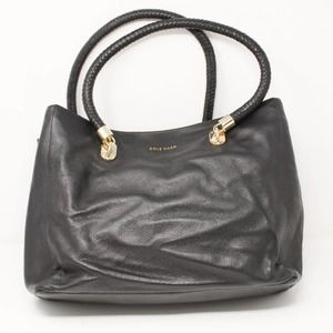 Cole Haan Benson Large Tote Black Pebble Leather